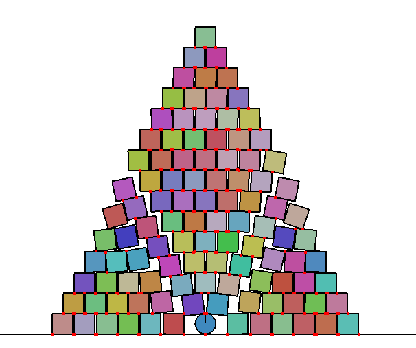 pyramid stack of boxes